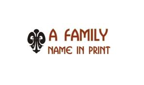 Family Name History Print