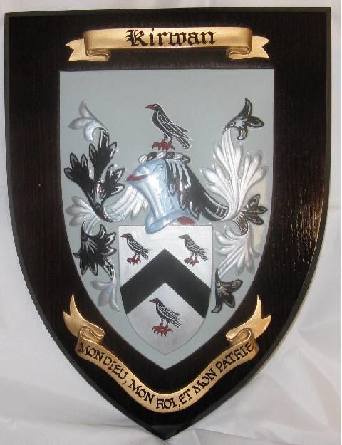 Large Shield with Family Crest