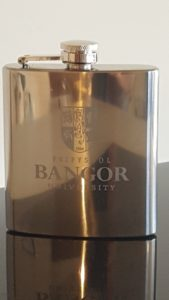 personalised family crest on hip flask