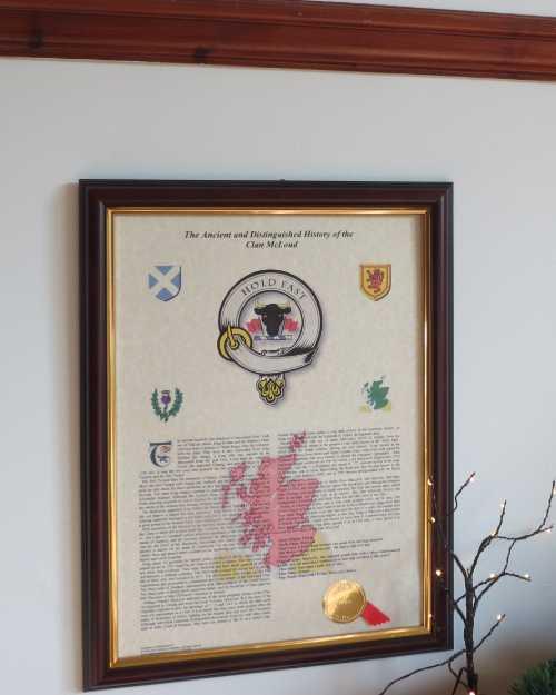 Scottish Clan Badge & History (A3)